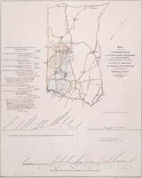 Plan of a proposed turnpike road from St John's Chapel, St Marylebone into the Great North Road